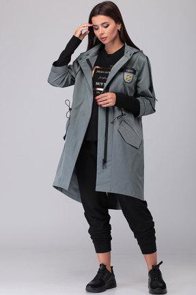 Куртка TawiFa 1023 серо-зелёные тона