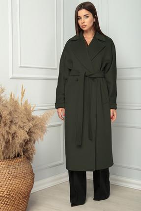 Пальто SandyNa 13814 хвойный