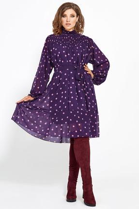 Платье Мублиз 469 баклажан