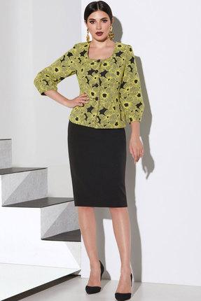 Комплект юбочный Lissana 4145 черный с горчичным фото