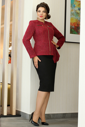 Комплект юбочный Мода-Юрс 2582 бордовые тона