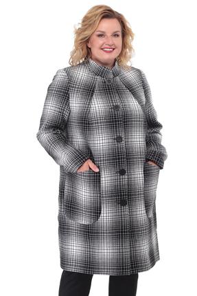 Пальто БелЭльСтиль 786 серые тона