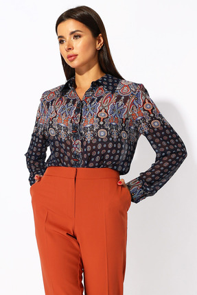 Блузка Миа Мода 1179 разноцвет
