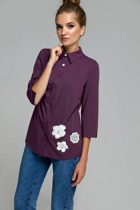 Блузка Gizart 7347б фиолетово-бордовый
