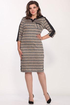 Платье Lady Style Classic 1123/4 бежевый с черным