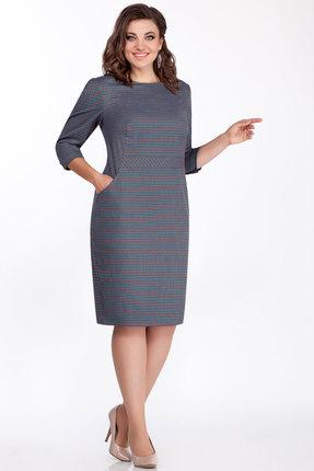 Платье БагираАнТа 649 бордо с бирюзой