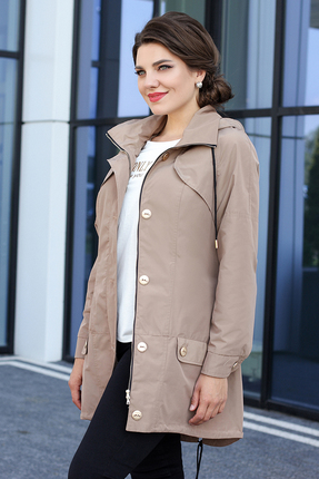 Куртка Мода-Юрс 2576 бежевые тона