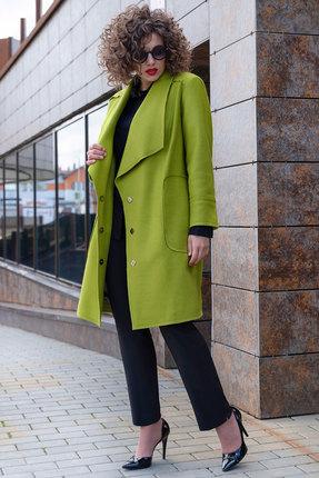 Пальто Erika Style 1065 олива