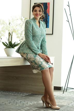 Комплект юбочный Мода-Юрс 2319 зеленые тона