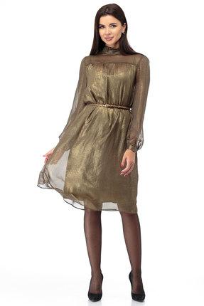 Платье Anelli 588 золотые тона