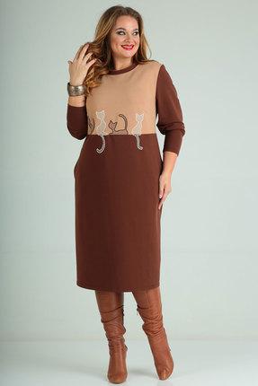 Платье SOVITA 2002 коричневые тона