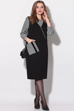 Платье LeNata 11141 черно-белый