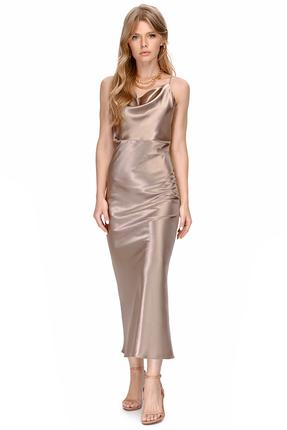 Платье PIRS 1390 бежевые тона