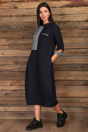 Платье Angelina & Co 419 темно-синий
