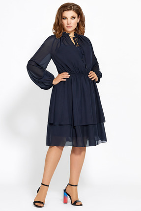 Платье Мублиз 473 темно-синий