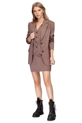 Комплект юбочный PIRS 1401 коричневые тона