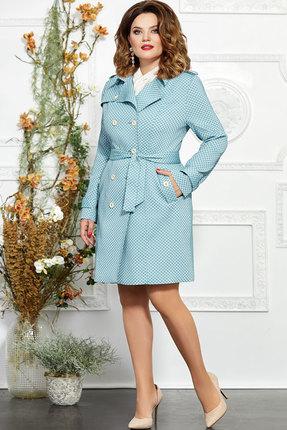 Плащ Mira Fashion 4856-2 голубой