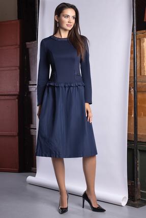 Платье ЮРС 20-391-1 темно-синий