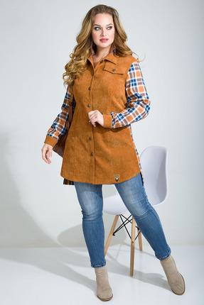 Рубашка Лилиана 869 оранжевые тона