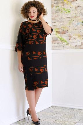 Платье Avanti Erika 920-6 черный с бордовым