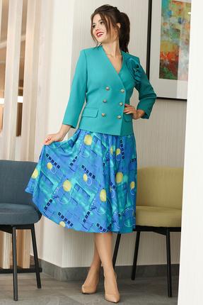 Комплект юбочный Мода-Юрс 2579 бирюзовый