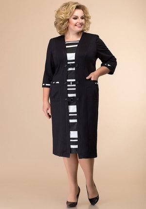 Платье Romanovich style 1-051 черный с белым