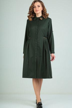 Платье Ришелье 823 зелёный