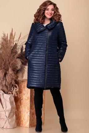 Пальто Асолия 3511.2 тёмно-синий