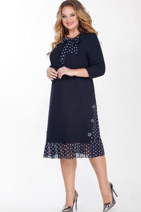 Платье Теллура-Л 1506 тёмно-синий
