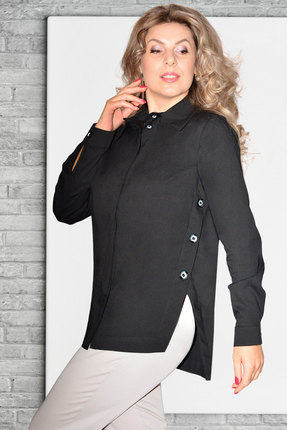 Рубашка Needle Ревертекс 437-1 черный