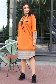 Платье Мода-Юрс 2598 оранжевые тона