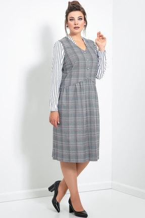 Платье JeRusi 2098 серый