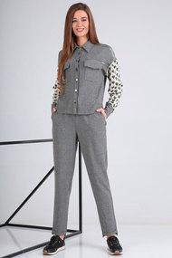 Комплект брючный Viola Style 20547 серый