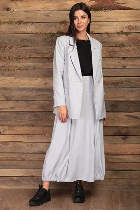 Комплект юбочный Angelina & Co 430 светло-серый с черным