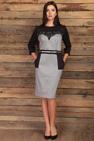 Платье Angelina & Co 432 серый с черным