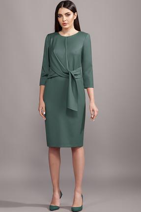 Платье Olegran 2016 серый изумруд