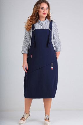 Платье Elga 01-607.2 тёмно-синий
