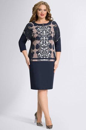 Платье Avanti Erika 280 синий с бежевым