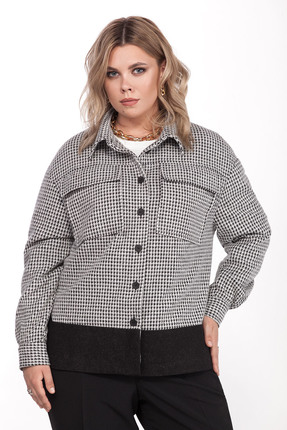 Куртка Pretty 1309 черно-белый