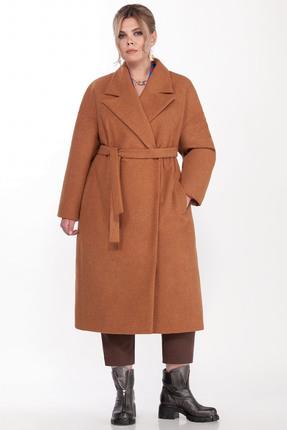 Пальто Pretty 1310 оранжевые тона