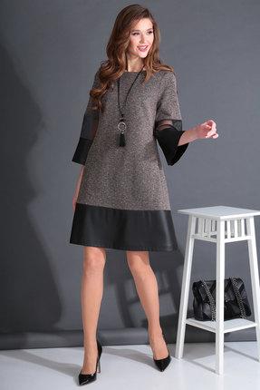 Платье Viola Style 0906 бронза с черным