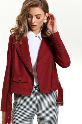 Куртка TEZA 1438 бордовые тона
