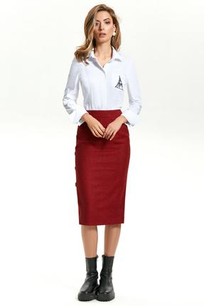 Комплект юбочный TEZA 1442 красно-белый