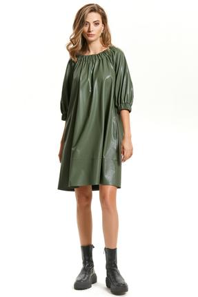 Платье TEZA 1444 зеленый