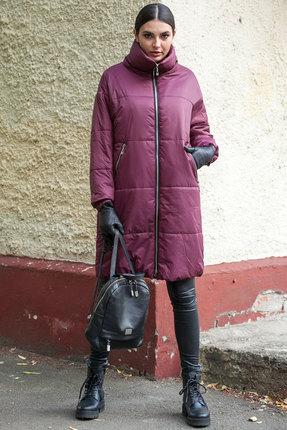 Пальто Doggi 6280 бордовый
