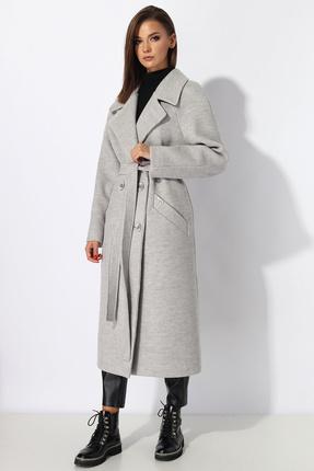 Пальто Миа Мода 1185-1 серый