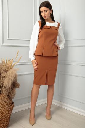 Комплект юбочный SandyNa 13854 желто-коричневый