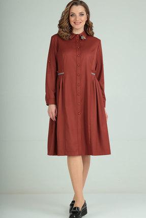 Платье Ришелье 823 терракот