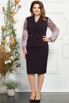 Комплект юбочный Mira Fashion 4822-2 тёмные тона