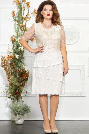 Платье Mira Fashion 4835-2 светлые тона